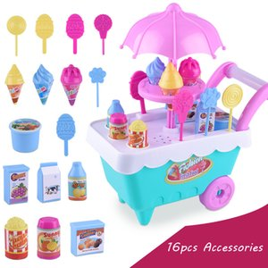 16 Unids Helado Cochecito de Bebé Para Muñecas Accesorios Lol Chica Juguetes Para Niños Regalos Cochecito Muñeca Bebé de Juguete Niñas Trolley Asamblea