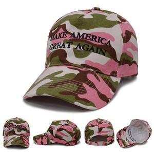 Donald Trump Camouflage Hat America del Presidente Campaign 2020 Berretto da baseball rendere l'America Great Again Trump protezione del ricamo del cappello di golf BH1945 ZX