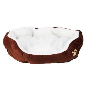 Tampon Kahve Pet Yatak M Boyutu ile Pamuk Pet Sıcak Waterloo