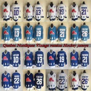 de hommes Nordiques de Québec CCM Vintage 13 SUNDIN 26 STASTNY 19 SAKIC 10 LAFLEUR 22 MAROIS 21 FORSBERG Throwback Retro Hockey Jersey