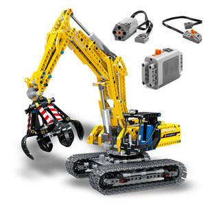 RC Escavatore traccia Electric Car 2 in 1 Building Blocks 720pcs Technic Ingegneria escavatori Blocchi mattoni giocattoli per i bambini CX200706
