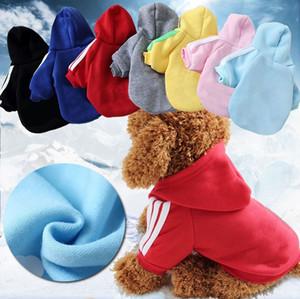 Großhandelshaustierhundekleidung Strickjacke-Sport-Reihe-Haustier liefert Haustierkleid Herbst und Winter-weicher Mantel