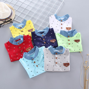 Baby boy Lapel T- short sleeve summer children Top Coat T-shirt top children's summer half-boy Fashion Polo Shirt E009
