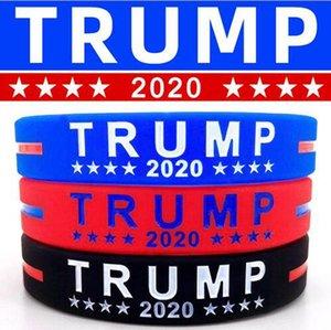 Trump Silikon-Armband Gummi-Support-Armband-Armbänder Machen Sie Amerika groß Donald Trump 2020 Schmuck Partei-Bevorzugung