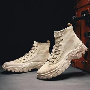 Pas cher Hommes Femmes Bottes Triple noir kaki cheville bottes d'hiver au chaud taille Bottes Martin eur 36-43