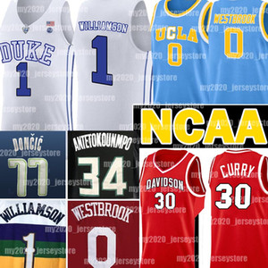 NCAA Zion 1 Williamson Ray Allen 34 Luka Jersey 77 Doncic Russell Westbrook 0 Stephen Curry 30 college Giannis 34 Antetokounmpo Pallacanestro