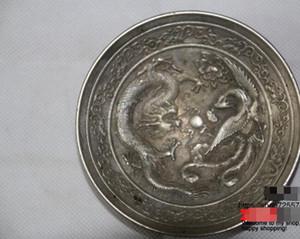 Chinesische tibetische Silberbürstenwaschmaschine Dragon- und Phoenix-Platten