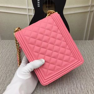 New women's one-shoulder bag 7A high-end custom quality diagonal cross bag fashion trend leisure style gold metal accessories with long shou