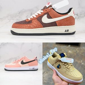 top 2020 AIR 1 Premium Red Bark Designer Authentic Skateboard PINK QUARTZ Coffee Lizard Mens Running Shoes AF 1 07 LV8 1HO20 CV5567-200
