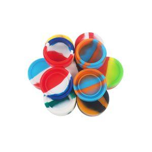 Genehmigt 22ml große runde Silikon-Container, Non Stick Slick -Rich Farben für Wachs