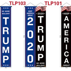 Keep America Great Flag 2pcs 1 Pair America Couplet 2020 Trump Three Colors Door Window Hanging Couplet Home Decor Hanging America Banner