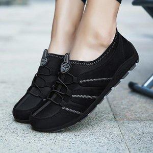 ZHENZU 여름 슬립 온 여성의 실행 신발 통기성 스포츠 스니커즈 스포츠 신발 레이디 테니스 팜므 블랙 훈련 트레이너