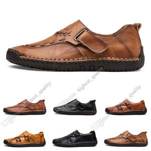 новый ручной прострочкой мужские ботинки ступили Англия горох обувь кожаная мужская обувь низкой большой размер 38-48 Четырнадцать