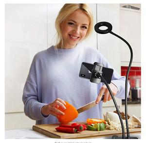 ماكياج LED كاميرا الصور الشخصية للحلقة الضوء مع الهاتف الخليوي حامل حامل لايف ستريم الإضاءة acc017