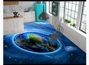 Pegatinas de pintura para el piso a prueba de agua a prueba de agua 3d Starry Galaxy Cosmic Baño Cocina 3D Pintura para pisos a prueba de agua