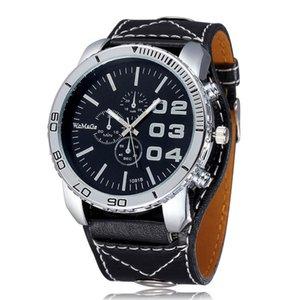 Fashion Casual Sports Clock Men Women Wristwatch Damenuhr Wide Leather Belt Quartz Watches Montre Femme Horloge Drop Shipping