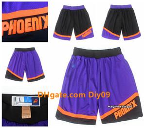 Retro MensPhoenixSuns Booker Ayton Nash Barkley Authentic StitchedNBA Shorts Breathable Pants Sweatpants Classic Shorts