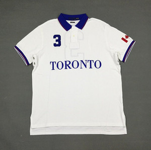 Brandnew US sizeTORONTO polo shirt Paris polos embroidery tees breathable cotton short sleeve shirts drop shipping