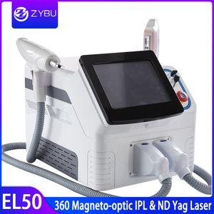 Новый 2in1 360 магнито-оптический IPL Постоянный Удаление волос Q Switched Nd удаления YAG лазер красоты машина удаления татуировки лазера IPL SHR волос