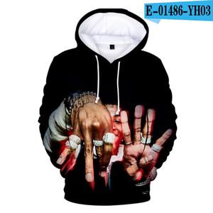 Kişilik Hoodie YoungBoy asla Kapüşonlular Erkekler Boy Sweatshirt Kadınlar Harajuku çocuklar Moda 3D Boy Kazaklar Baskı Broke