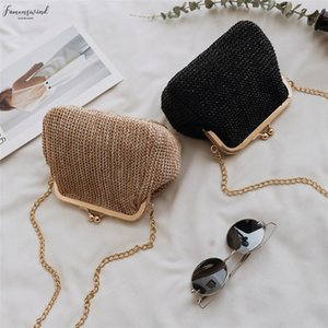 Ljl Small Crossbody Boho Bags For Women Evening Clutch Bags Hasp Ladies Handbag Female Straw Beach Rattan Women Messenger Bag