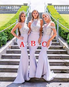 Чувствительная 2019 Русалка невесты платья Блестки Аппликация Поезд стреловидности Страна Формальное партия Вечернее платье Mixed Стиль Chic Vestidos De Fiesta