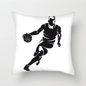 Fuwatacchi Play Basketball Cushion Cover Sports Pillow Cover for Decor Home Sofa Chair Square 45*45mm Decor Soft Pillowcases