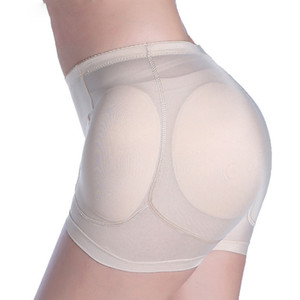 섹시한 여성 4 개 패드 증강 가짜 엉덩이 엉덩이 엉덩이 리프터 셰이퍼 제어 팬티 이동식 패딩 슬리밍 속옷
