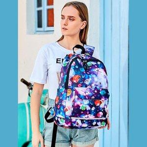 New Fashion Unisex Backpack Causal Shoulder Bag Men School Student Bag Flower Print Travelbags Women Backpack Waterproof