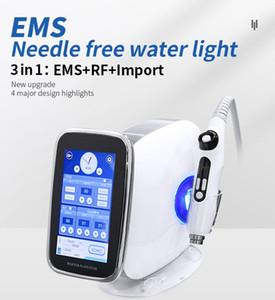 EMS Microneedle rf makine Yok İğne Meso Mezoterapi Tabancası Enjektör Yüz Germe Su Enjeksiyonu Karşıtı Salon Güzellik Cihazı Yaşlanma