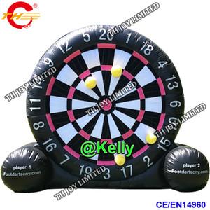 porte porte gratuite 5m 16.5ft haute gonflable pied jeu de dard gonflable à vendre, pvc bâche gonflable football dart jeu