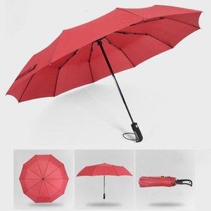 Full Automatic Oversize Umbrella 3 Folding Male Female Windproof Foldin Umbrella Automatic Fully-automatic