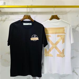 2020 maniche corte Mens maglietta degli uomini delle donne di alta qualità Fashion Boy London Men Rottura della lettera di stampa Tee 055