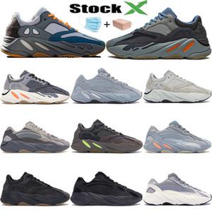 3M réfléchissant vague runner 700 hôpital bleu inertie aimant kanye west chaussures de course Utility Black vanta statique hommes femmes designer formateurs