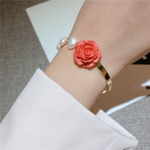 Flower Rose pulseira elegante para mulheres Shinning da borboleta multi Elements Bangle presentes bonitos
