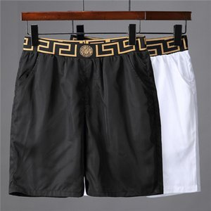Al por mayor nuevo cocodrilo bordado Junta Pantalones cortos para hombre de la playa del verano pantalones cortos de alta calidad traje de baño de las Bermudas masculino Carta vida de la resaca de los hombres de la nadada