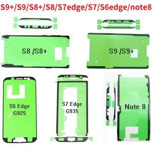 Tampa traseira da tela LCD adesiva cola fita para Samsung Galaxy S9 S8 Plus Nota 8 S7 borda borda S6 Frente Quadro Tape etiqueta