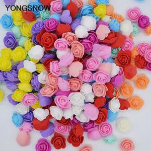 50pc 3cm mini flores de Rose del jabón de espuma oso de Roses Decorar Flores artificiales de Rose cabeza del oso del molde Flor Día de la Madre