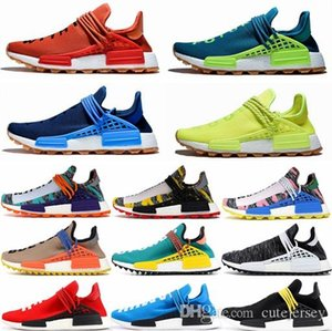 Pharrell Williams NMD Human Race Designer Sneakers BBC Solar Pack Yellow Blue Nerd Heart Mind Know Soul Mens Womens nmds Running Shoes