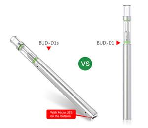 BUD D1S Tek Starter Boş Vape Kalem 0.5ml Yağ Kartuşları Mikro USB Şarj 320mAh Pil Seramik Bobin Vaporizer Kalem Cam İpuçları Kitleri