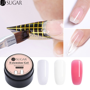 UR САХАР 15мл Quick Extension Poly UV Gel Clear White Pink Builder ногти Гель-лак для наращивания ногтей Формы акриловых Советов