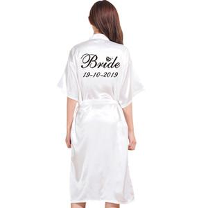 Personnalisé Longue Robe De Mariage Personnalité robe pour Bridedal Party Émulation Soie Doux Accueil Peignoir Pour Les Femmes Kimono Robes