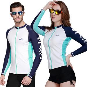 UV Protect Rushguards Мужчины Плавание Серфинг Пляжные футболки Мужские гидрокостюмы с длинным рукавом Дайвинг Гидрокостюмы Парусный спорт Rush Guards Купальники