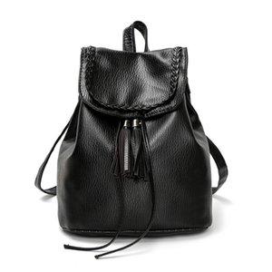 New Designer Women Backpack 19157 Borsa a tracolla doppia stile casual Totes Tassel String Pattern Zaini da viaggio per esterni
