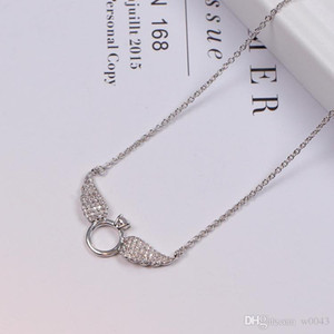 2020 New Brand Designer luxury Statement Choker Necklace Chain Angel Wings Pendants Necklaces for Women Gifts
