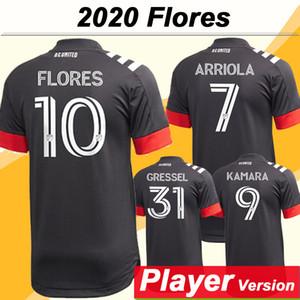 2020 Uniformes Camiseta de manga DC Estados Mens versión de CC jugador de fútbol jerseys ARRIOLA KAMARA FLORES Gressel Inicio Negro Fútbol corto adultas