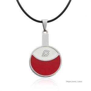Горячие аниме Наруто Ожерелья Подвески Uchiha Itachi Choker Ожерелье Эмаль Naruto Leaf Village Символ Косплей Jewelry Colar