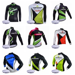 MERIDA team Cycling Winter Thermal Fleece jersey Ropa de ciclismo de manga larga de alta calidad Conjunto de ropa de bicicleta al aire libre D1021