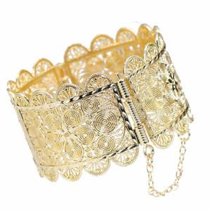 Neovisson العربية زهرة سوار الكفة المغرب الزفاف سوار الذهب والمجوهرات اللون