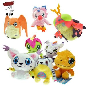 Wholesale-8pcs / set Digimon Abenteuer Plüschtiere 5 '' 12cm Agumon Gabumon Gomamon Piyomon Palmon Patamon Digitale Monster Gefüllte Puppen